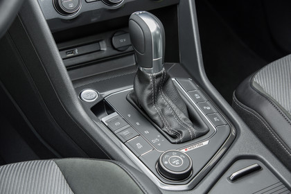 VW Tiguan 2 Innenansicht Detail Mittelkonsole statisch schwarz