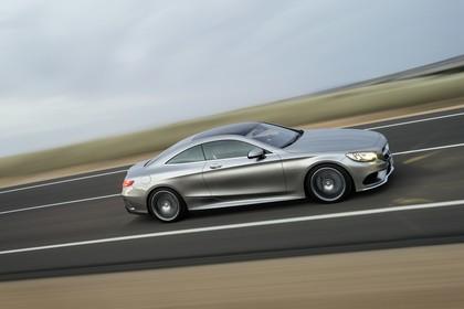 Mercedes-Benz S-Klasse Coupé C217 Aussenansicht Seite schräg dynamisch grau