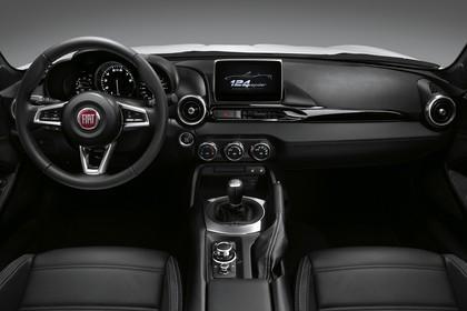 Fiat 124 Spider Innenansicht statisch Studio Vordersitze und Armaturenbrett