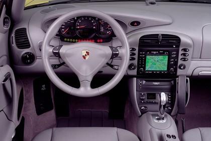 Porsche 911 (996) Cabrio Innenansicht Fahrerposition statisch grau