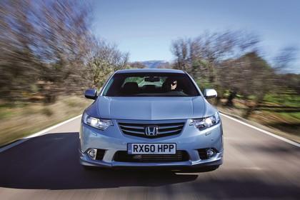 Honda Accord Limousine 8 Facelift Aussenansicht Front dynamisch silber