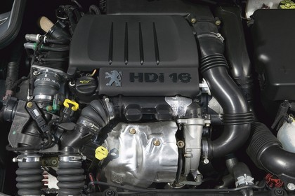 Peugeot 206 SW 2 Aussenansicht statisch Detail Motor