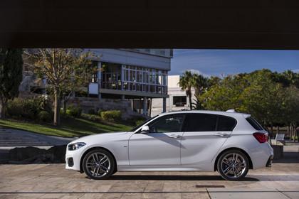 BMW 1er F20 Facelift aussenansicht Seite statisch weiss