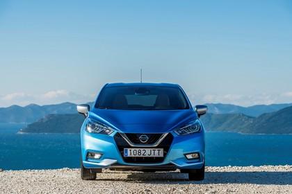 Nissan Micra K14 Aussenansicht Front statisch blau