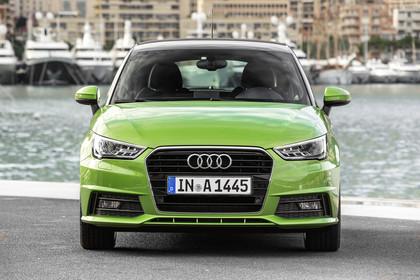 Audi A1 Sportback Aussenansicht Front statisch grün