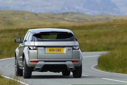 Land Rover Range Rover Evoque Coupé L538 Aussenansicht Heck dynamisch grau