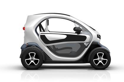 Renault Twizy Aussenansicht Seite statisch Studio weiss
