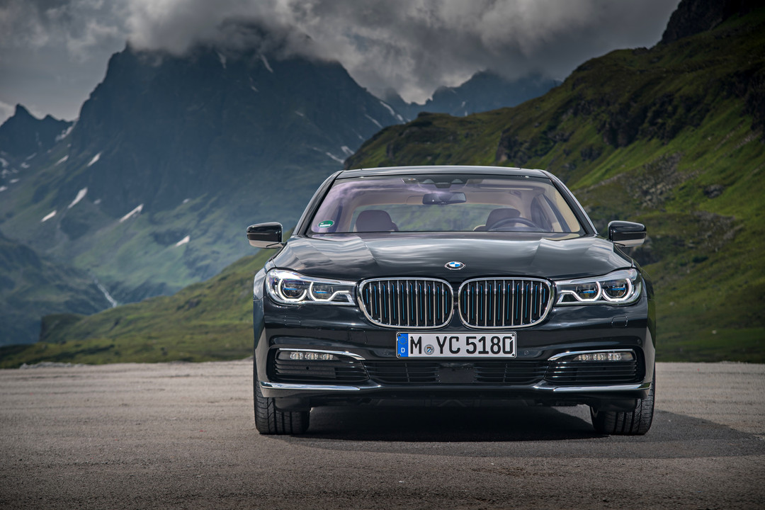 BMW 7er G11 G12 Aussenanansicht Front Statisch Grau