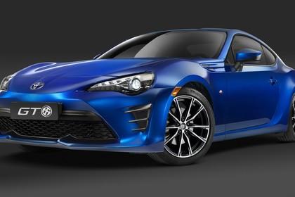 Toyota GT86 ZN6 Aussenansicht Front schräg statisch Studio blau