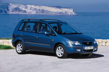 Mazda Premacy CP Aussenansicht Front schräg statisch blau