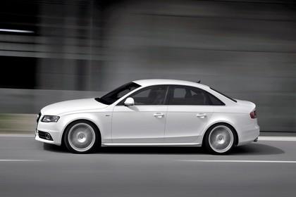 Audi A4 B8 Aussenansicht Seite dynamisch weiss