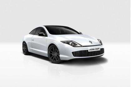 Renault Laguna Coupé T Facelift Aussenansicht Front schräg statisch Studio weiss