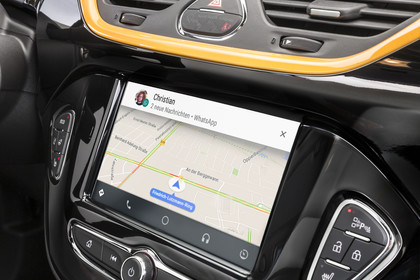 Opel Corsa E 5Türer  Innenansicht Detail Multimedia statisch schwarz