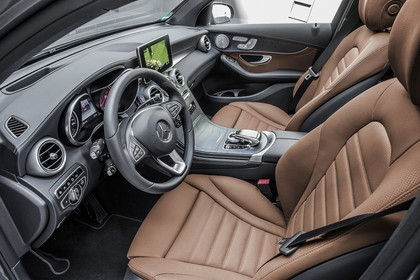 Mercedes GLX X253 Innenansicht Vordersitze statisch braun