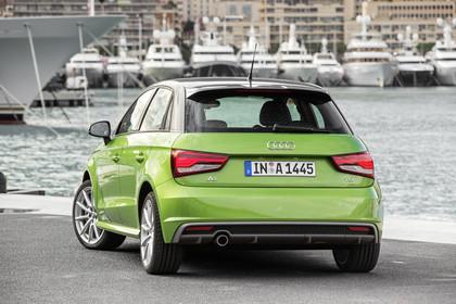 Audi A1 Sportback Aussenansicht Heck statisch grün