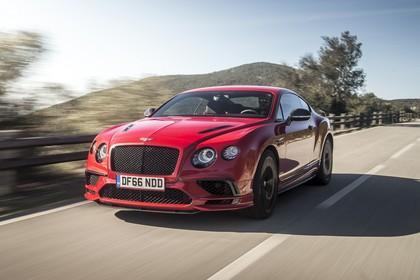 Bentley Continental Supersports Aussenansicht Front schräg dynamisch rot