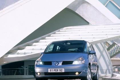 Renault Espace JK Aussenansicht Front schräg statisch silber