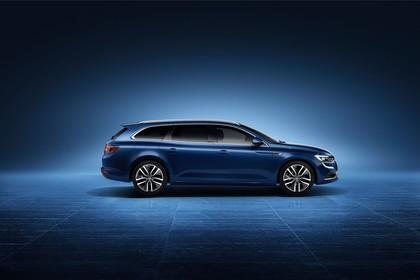 Renault Talisman Grandtourer (RFD) Aussenansicht Seite statisch Studio blau