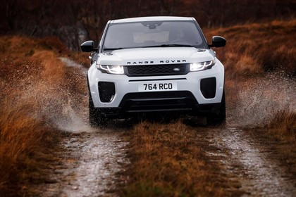 Land Rover Range Rover Evoque Coupé L538 Aussenansicht Front dynamisch weiß