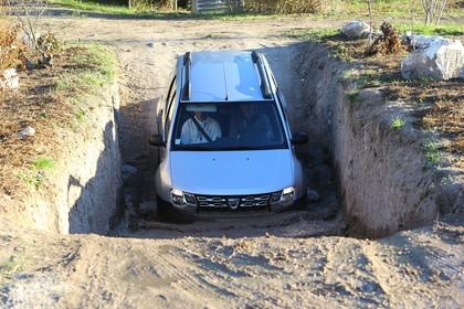 Dacia Duster SD Aussenansicht Front dynamisch silber