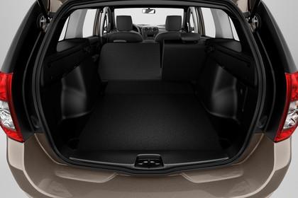 Dacia Logan MCV Innenansicht Kofferraum Rückbank umgeklappt Studio statisch schwarz