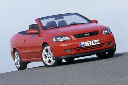 Opel Astra G Cabrio Front statisch rot