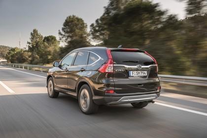 Honda CR-V RE Aussenansicht Heck schräg dynamisch schwarz