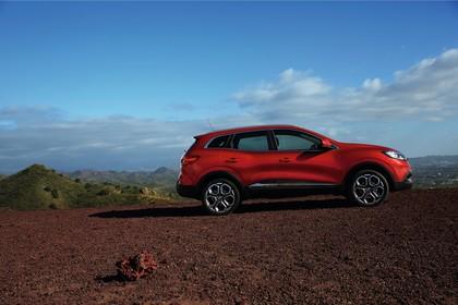 Renault Kadjar Aussenansicht Seite statisch rot