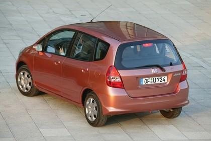 Honda Jazz GE Aussenansicht Heck schräg erhöht statisch kupfer