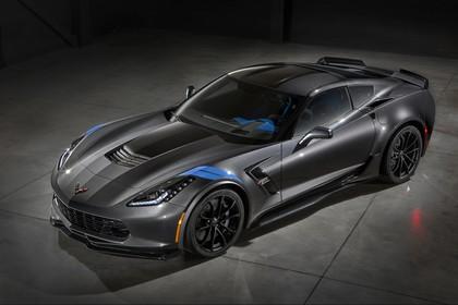 Chevrolet Corvette Grand Sport Coupé Aussenansicht Front schräg statisch Studio schwarz