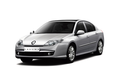 Renault Laguna Limousine T Aussenansicht Front schräg statisch Studio silber