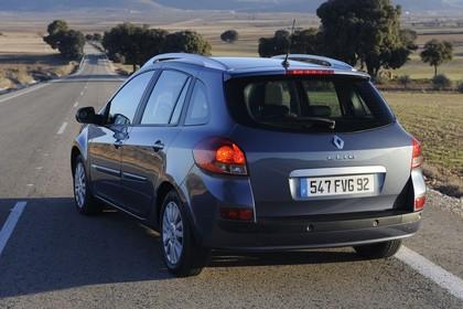 Renault Clio Grandtour R Facelift Aussenansicht Heck schräg statisch grau