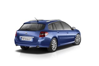 Renault Laguna Grandtour T Facelift Aussenansicht Heck schräg statisch Studio blau