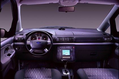 Ford Galaxy MK1 Studio Innenansicht Fahrerposition statisch schwarz