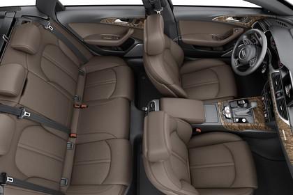 Audi A6 C7 Innenansicht Vogelperspektive Studio statisch braun
