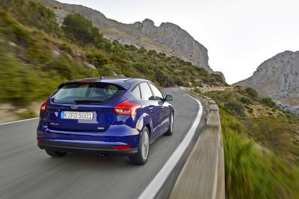 Ford Focus Schrägheck Mk3 Heck schräg dynamisch blau