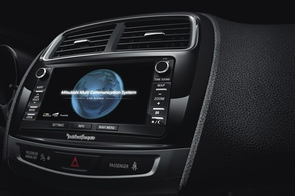 Mitsubishi ASX GAO Innenansicht Detail statisch schwarz Entertainment