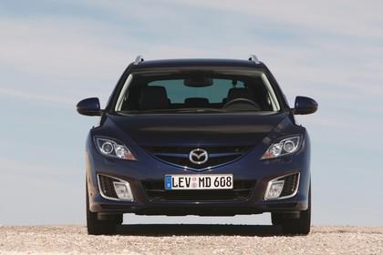 Mazda 6 Kombi GH Aussenansicht Front statisch blau