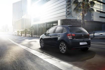 Citroën C3 S Aussenansicht Heck schräg dynamisch schwarz