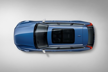 Volvo V90 P Aussenansicht Draufsicht statisch Studio blau