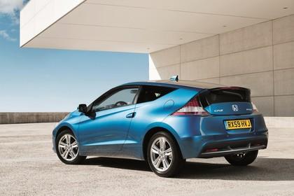Honda CR-Z Aussenansicht Heck schräg statisch blau