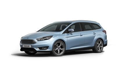Ford Focus Turnier Mk3 Front schräg statisch studio blau