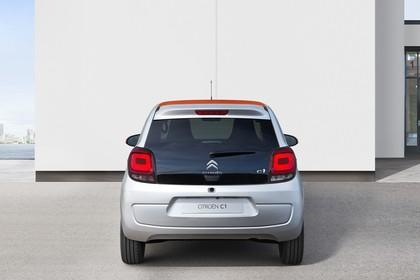 Citroën C1 P Aussenansicht Heck statisch silber