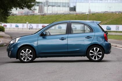 Nissan Micra K13 Aussenansicht Seite statisch blau