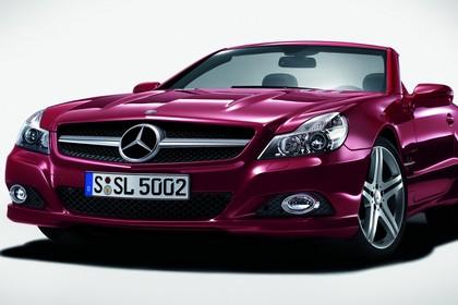 Mercedes SL R230 Studio Aussenansicht Front statisch rot