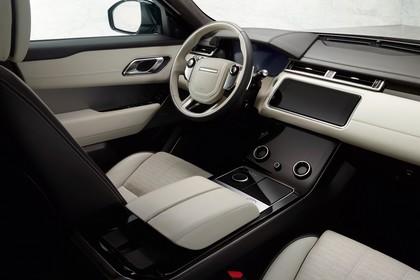 Land Rover Range Rover Velar Innenansicht Beifahrersicht statisch schwarz beige