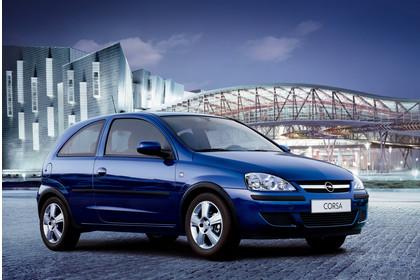 Opel Corsa C 3Türer Aussenansicht Front schräg statisch blau