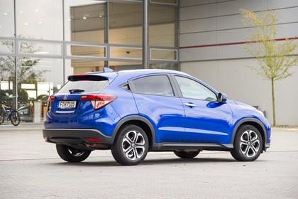 Honda HR-V RU Aussenansicht Seite schräg statisch blau