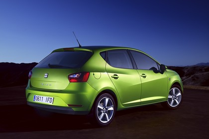 SEAT Ibiza 6P Heck schräg statisch grün