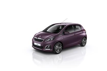 Peugeot 108 Aussenansicht Seite schräg statisch Studio violett
